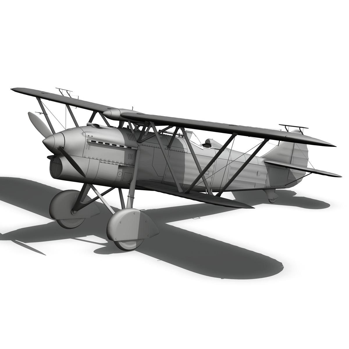 fiat cr.32 – chinese nationalist air force 3d model fbx c4d lwo obj 272643