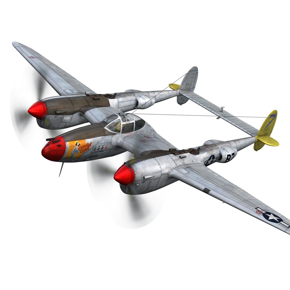 lockheed p-38 lightning – beautiful bitch 3d model fbx c4d lwo obj 272664
