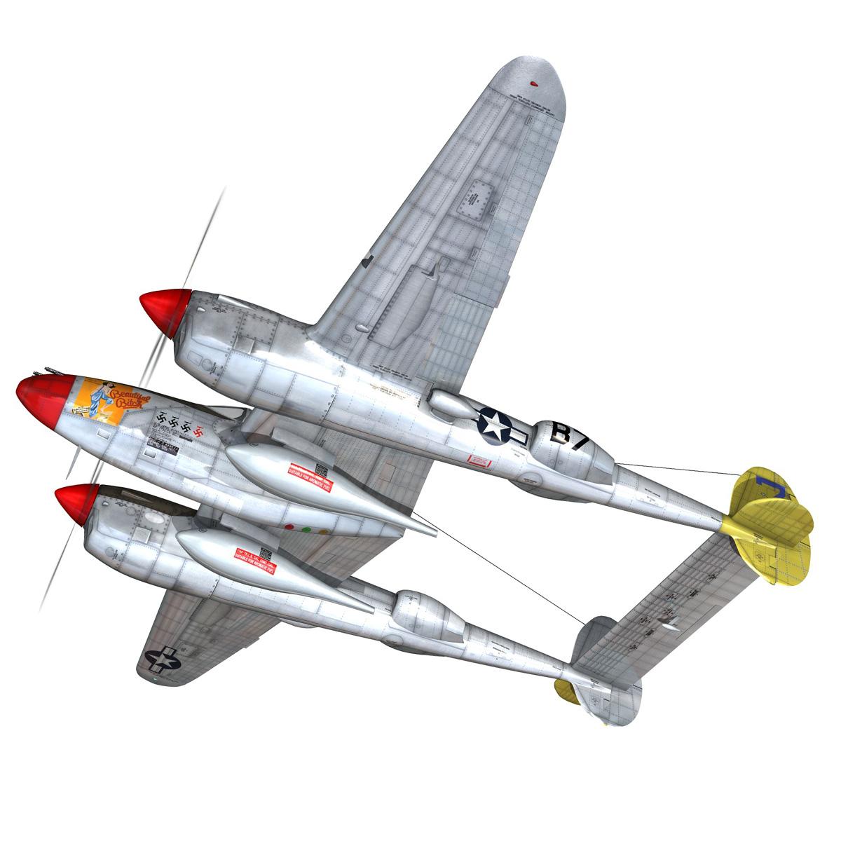 lockheed p-38 lightning – beautiful bitch 3d model fbx c4d lwo obj 272666