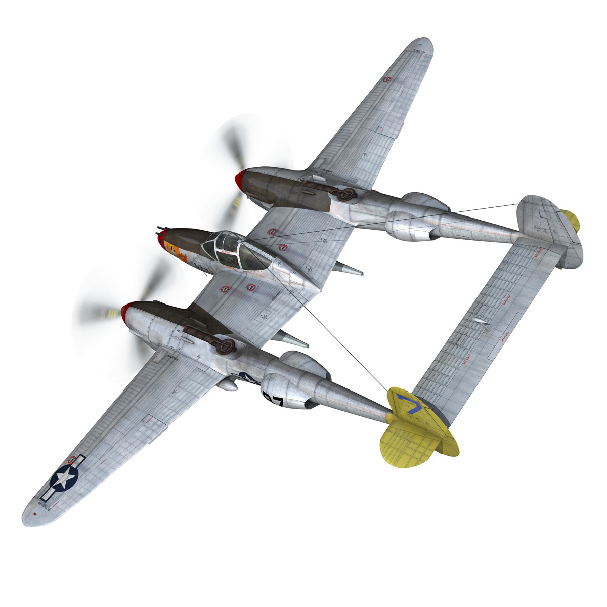 lockheed p-38 lightning – beautiful bitch 3d model fbx c4d lwo obj 272668