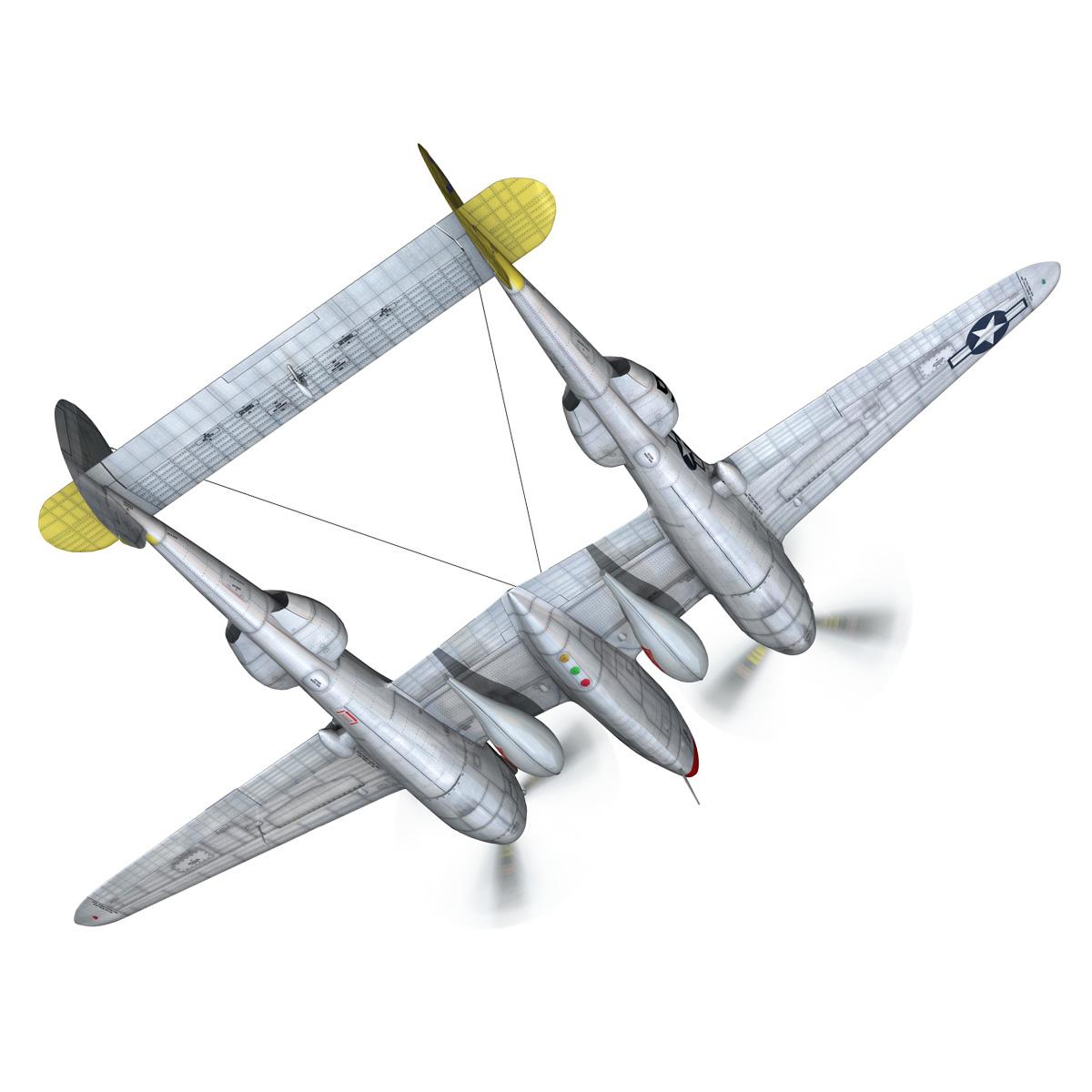 lockheed p-38 lightning – beautiful bitch 3d model fbx c4d lwo obj 272669