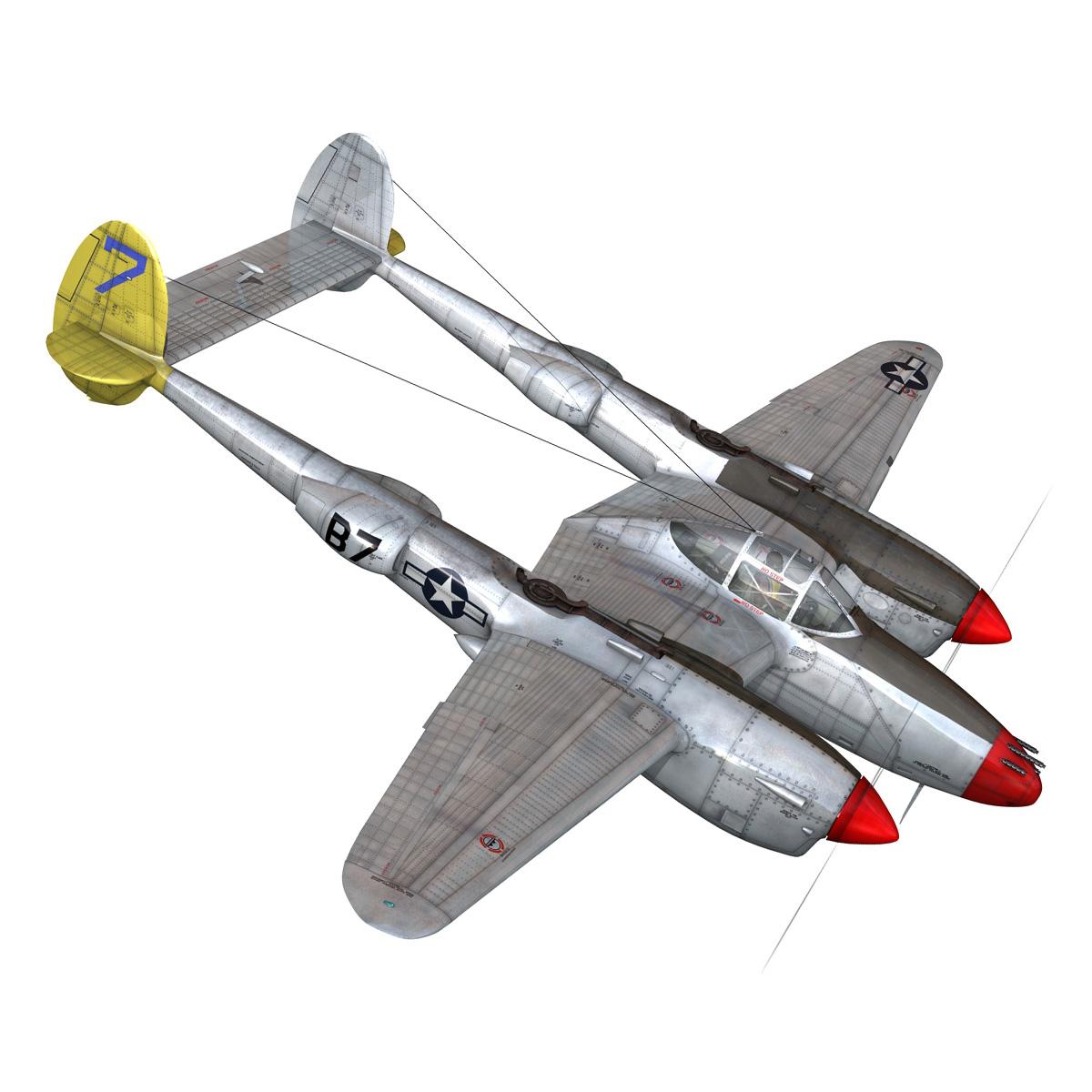 lockheed p-38 lightning – beautiful bitch 3d model fbx c4d lwo obj 272670