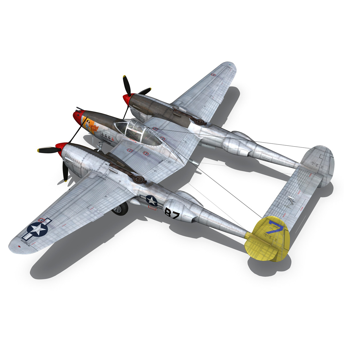 lockheed p-38 lightning – beautiful bitch 3d model fbx c4d lwo obj 272672
