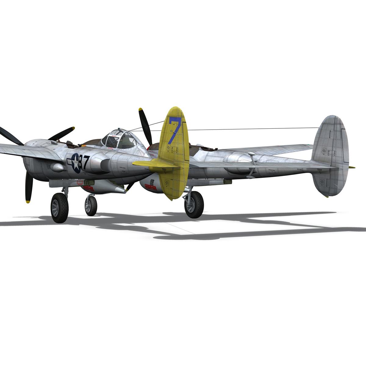 lockheed p-38 lightning – beautiful bitch 3d model fbx c4d lwo obj 272673