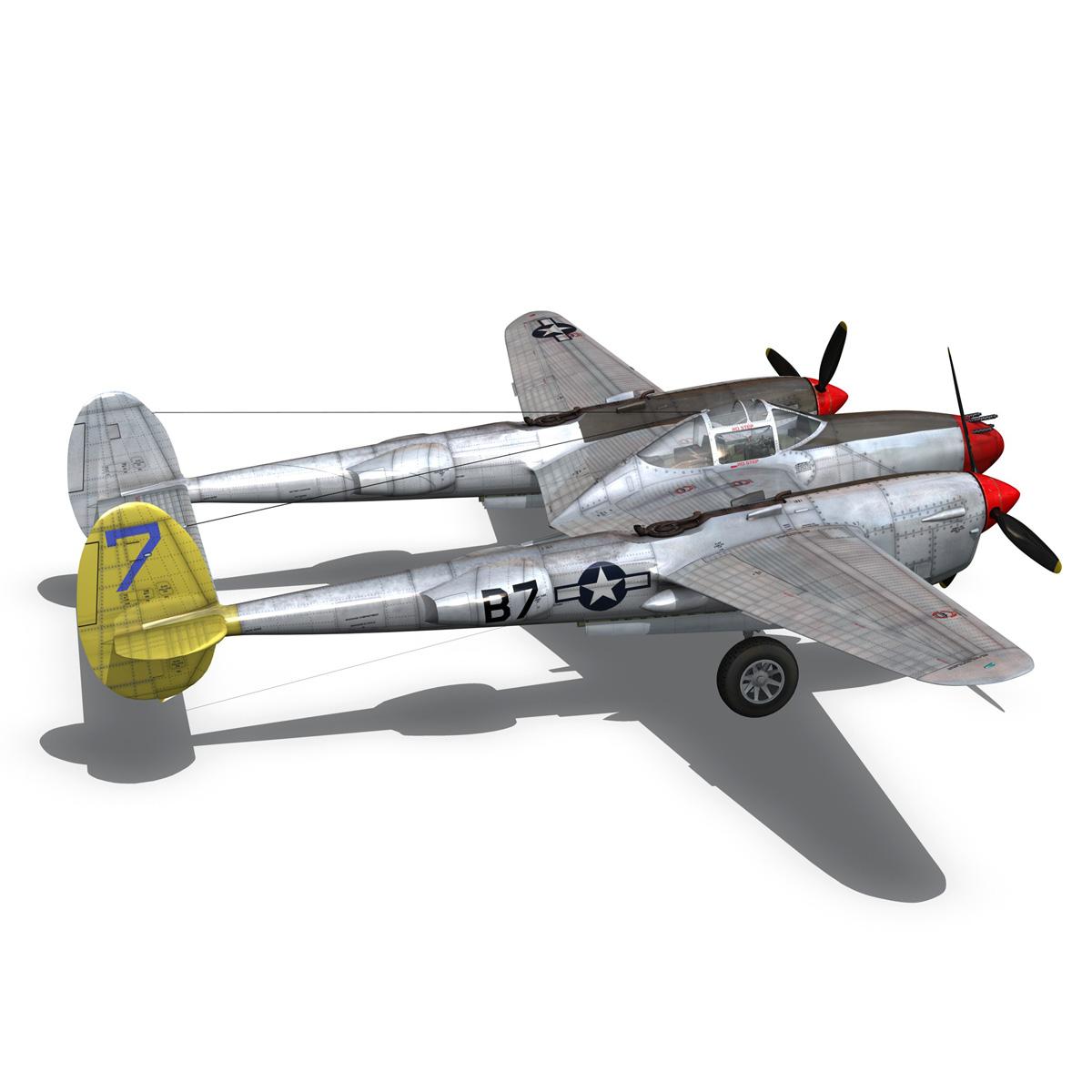 lockheed p-38 lightning – beautiful bitch 3d model fbx c4d lwo obj 272674