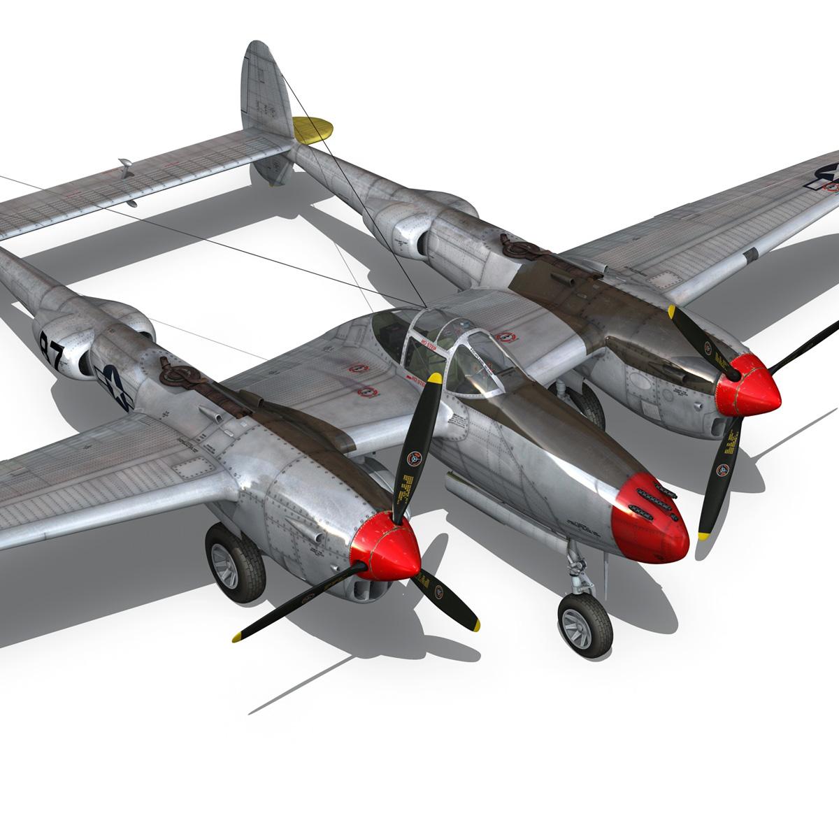 lockheed p-38 lightning – beautiful bitch 3d model fbx c4d lwo obj 272675
