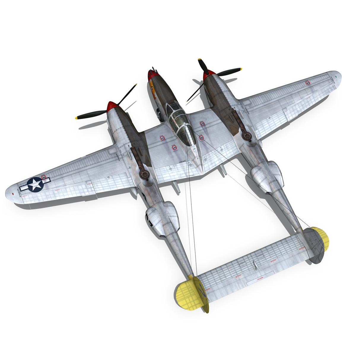 lockheed p-38 lightning – beautiful bitch 3d model fbx c4d lwo obj 272676