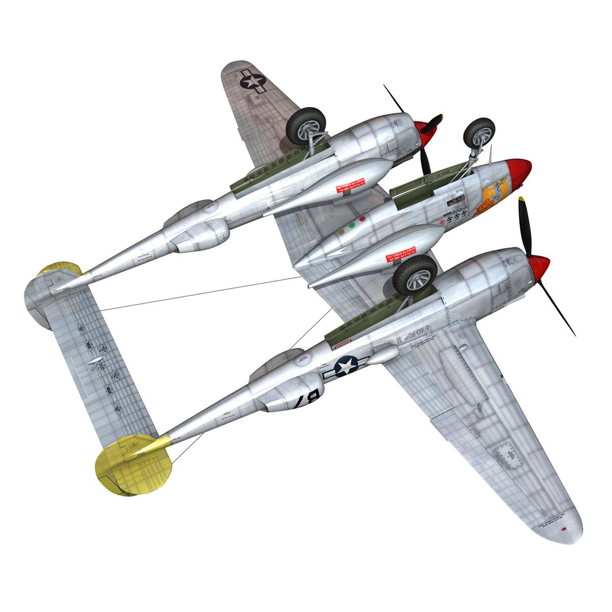 lockheed p-38 lightning – beautiful bitch 3d model fbx c4d lwo obj 272678