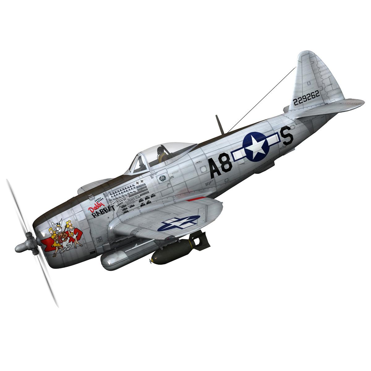 republic p-47 thunderbolt – daddy rabbit 3d model fbx c4d lwo obj 272689