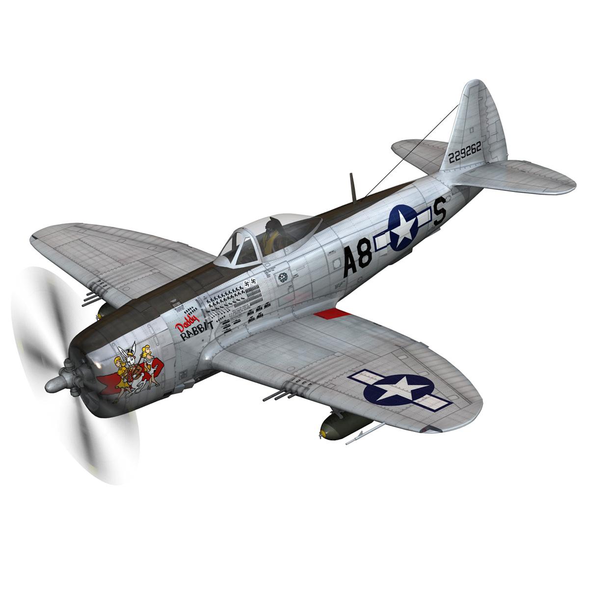 republic p-47 thunderbolt – daddy rabbit 3d model fbx c4d lwo obj 272691