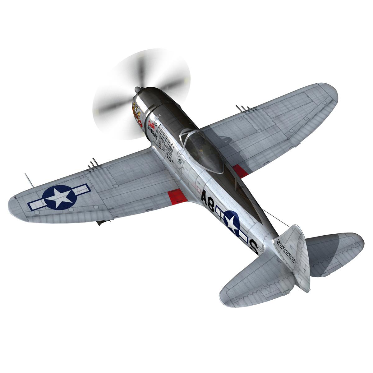 republic p-47 thunderbolt – daddy rabbit 3d model fbx c4d lwo obj 272693
