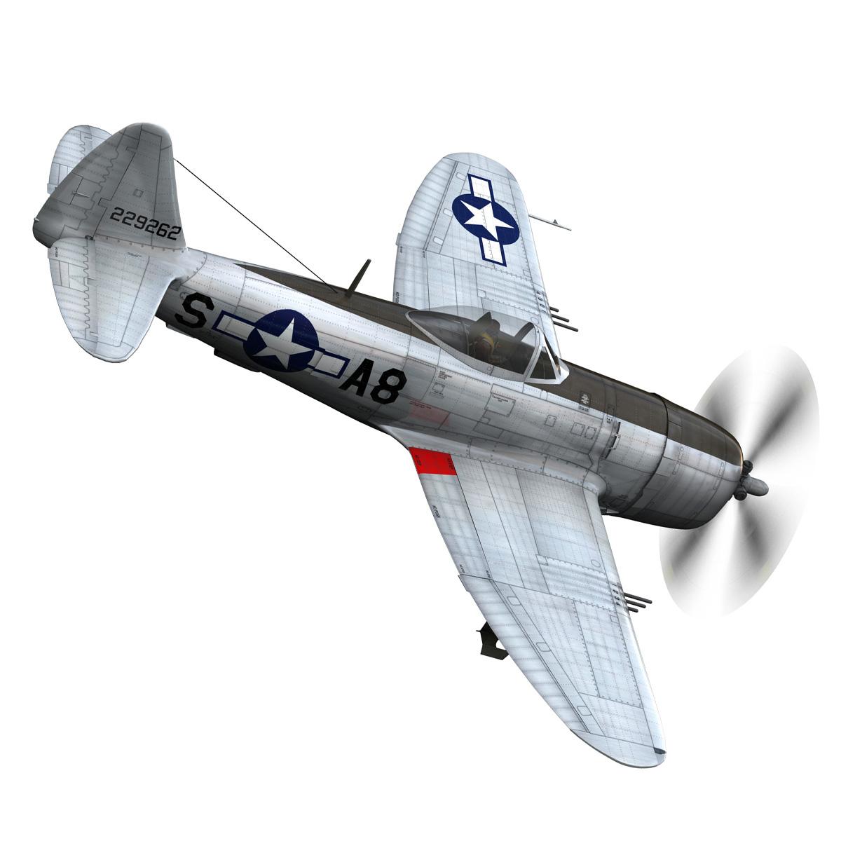 republic p-47 thunderbolt – daddy rabbit 3d model fbx c4d lwo obj 272694