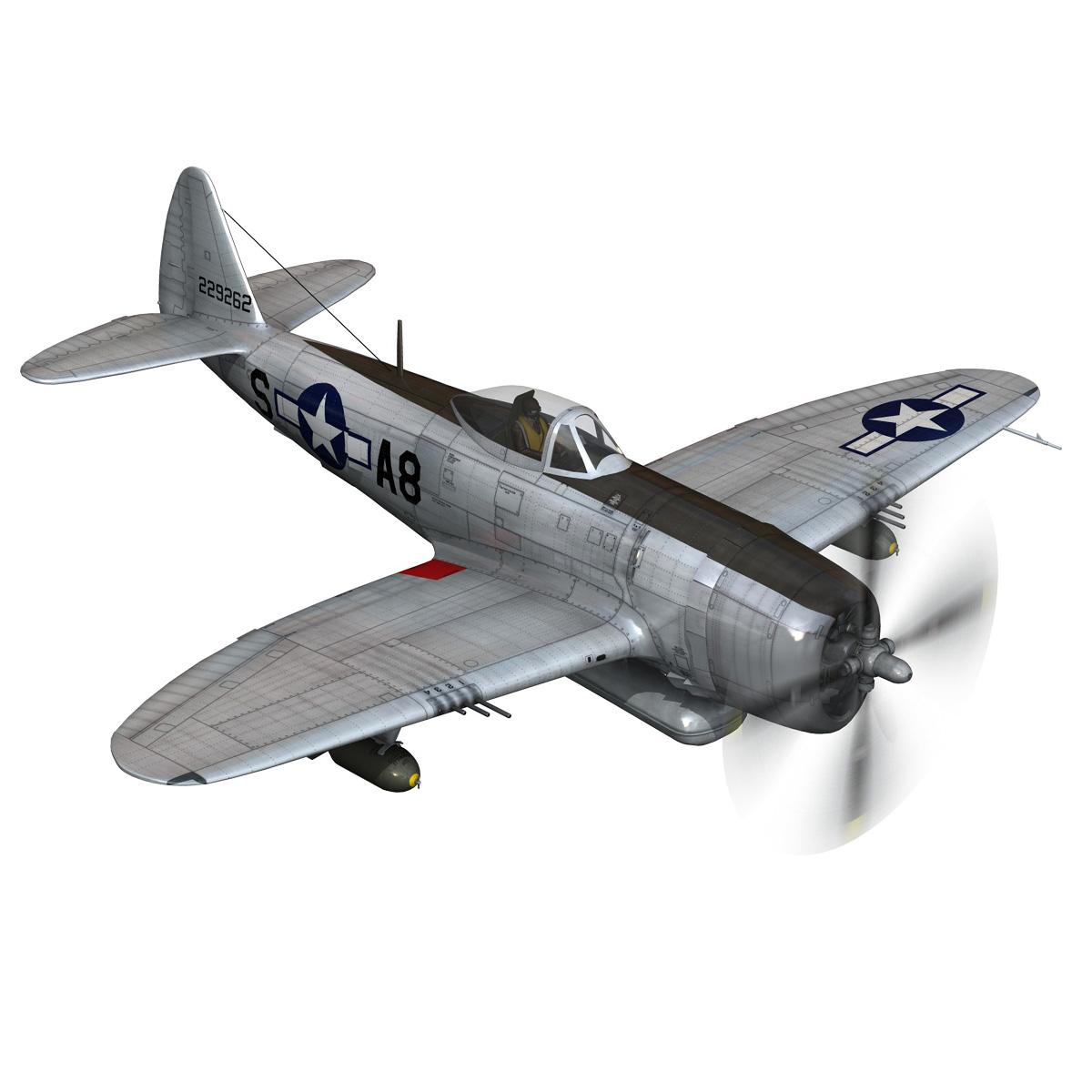 republic p-47 thunderbolt – daddy rabbit 3d model fbx c4d lwo obj 272695