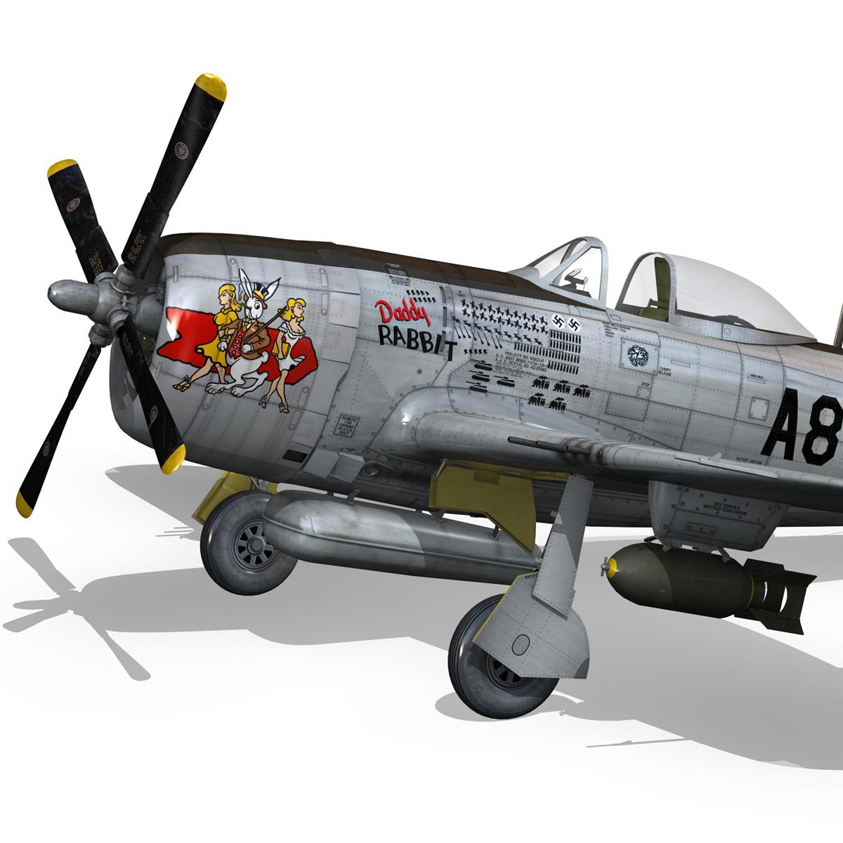 republic p-47 thunderbolt – daddy rabbit 3d model fbx c4d lwo obj 272696