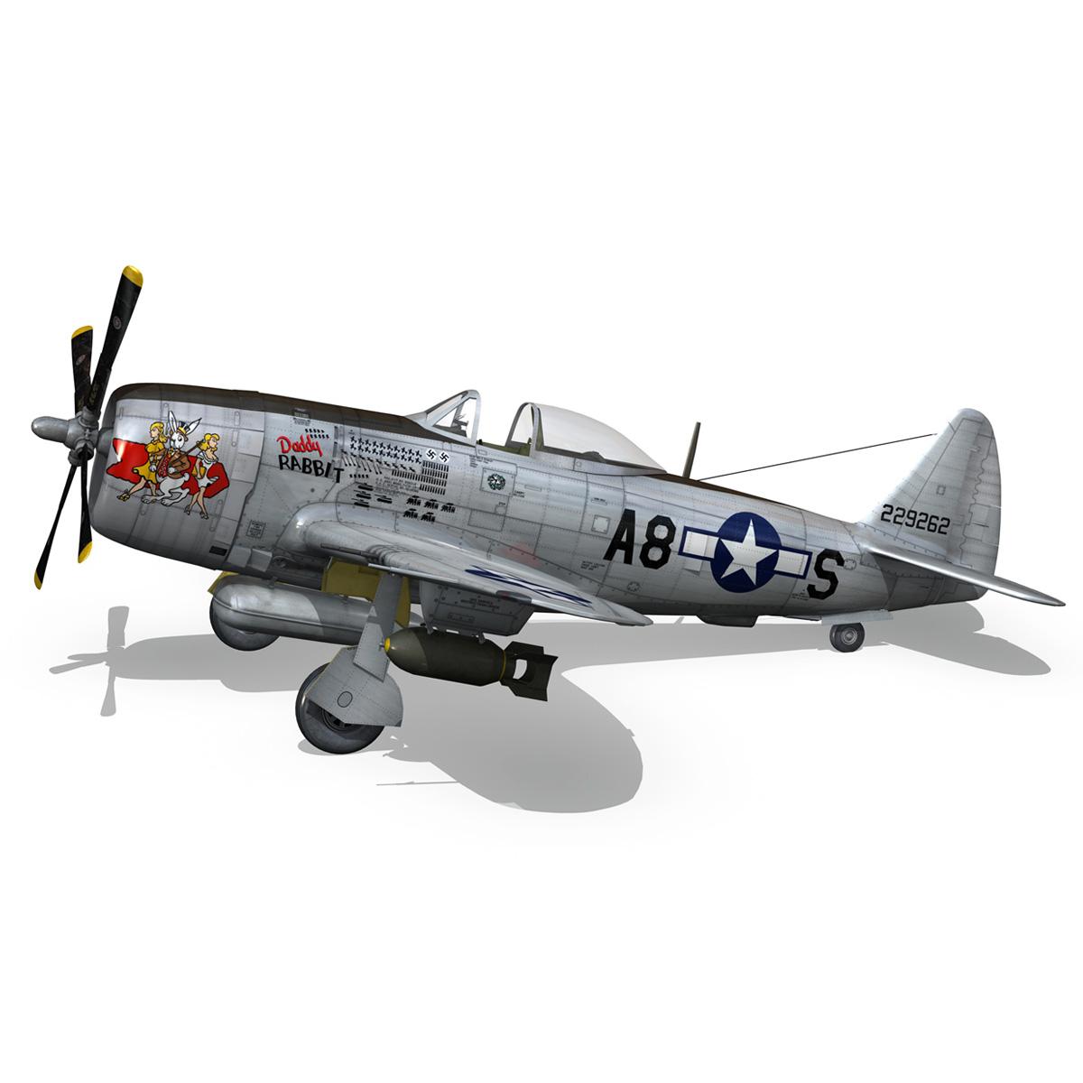 republic p-47 thunderbolt – daddy rabbit 3d model fbx c4d lwo obj 272697