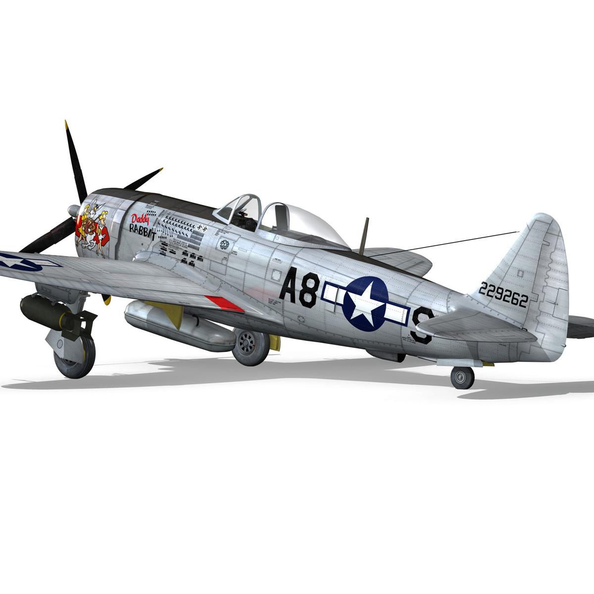 republic p-47 thunderbolt – daddy rabbit 3d model fbx c4d lwo obj 272698
