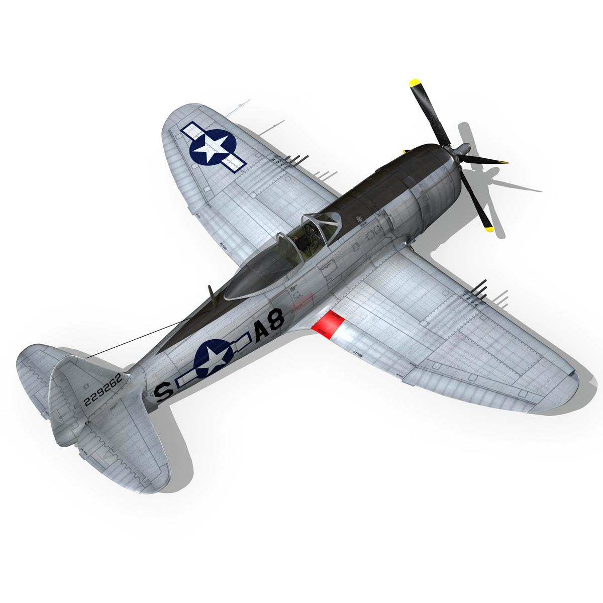 republic p-47 thunderbolt – daddy rabbit 3d model fbx c4d lwo obj 272699