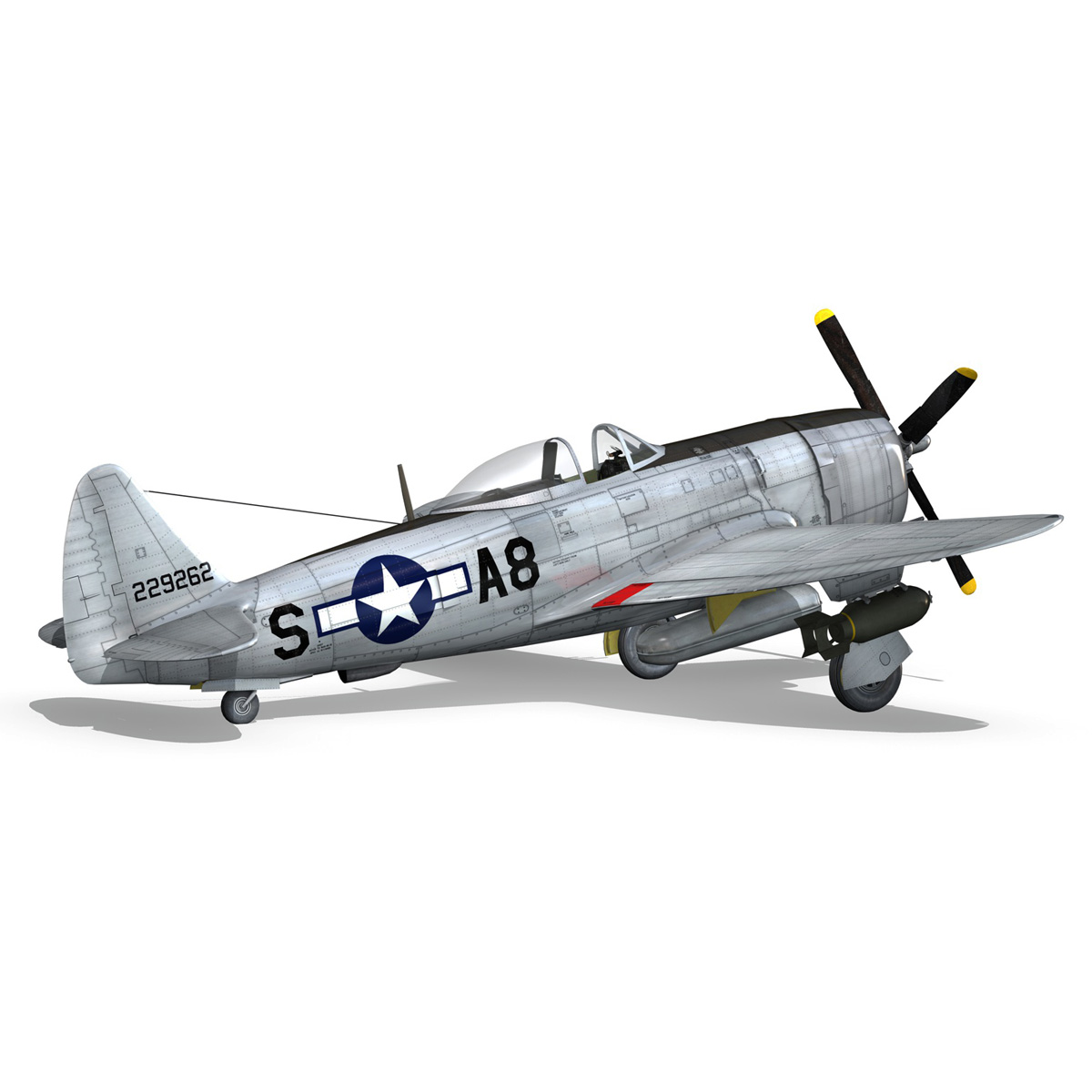 republic p-47 thunderbolt – daddy rabbit 3d model fbx c4d lwo obj 272700
