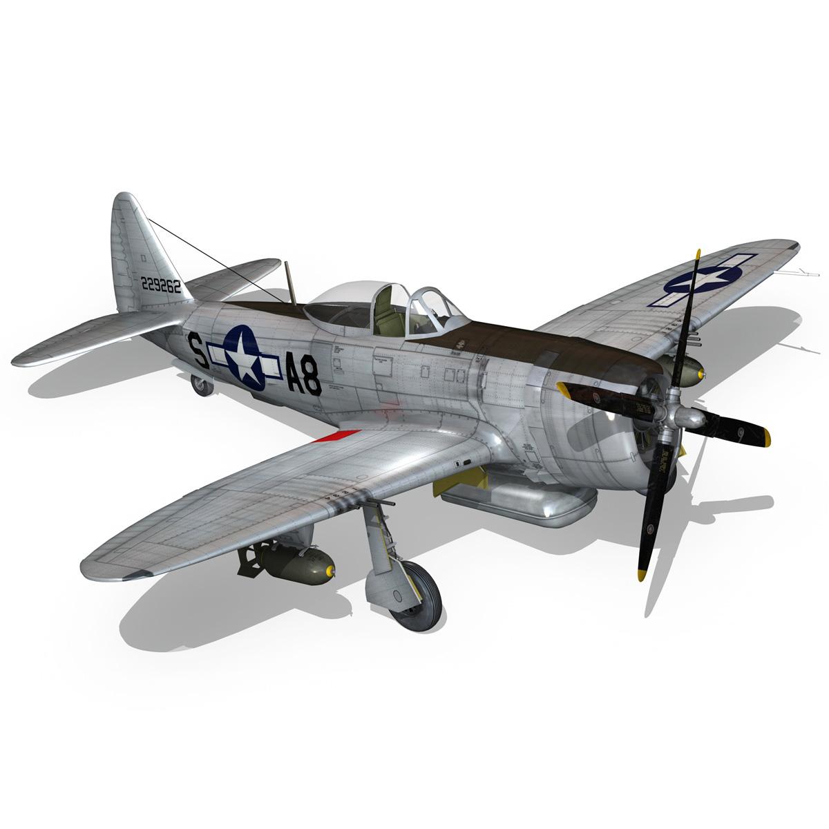 republic p-47 thunderbolt – daddy rabbit 3d model fbx c4d lwo obj 272701