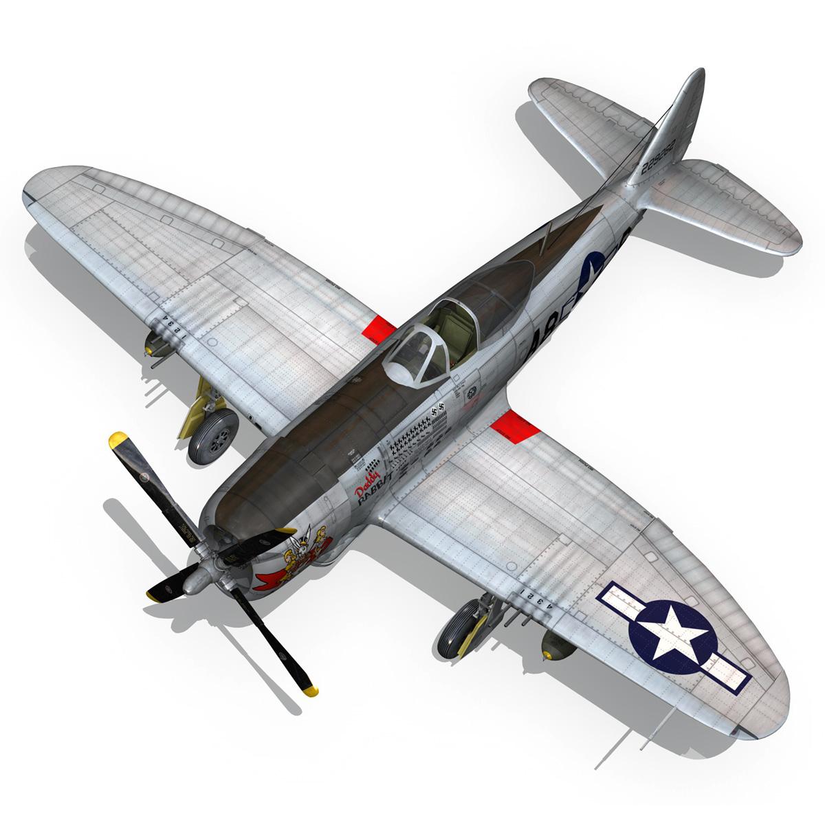 republic p-47 thunderbolt – daddy rabbit 3d model fbx c4d lwo obj 272703