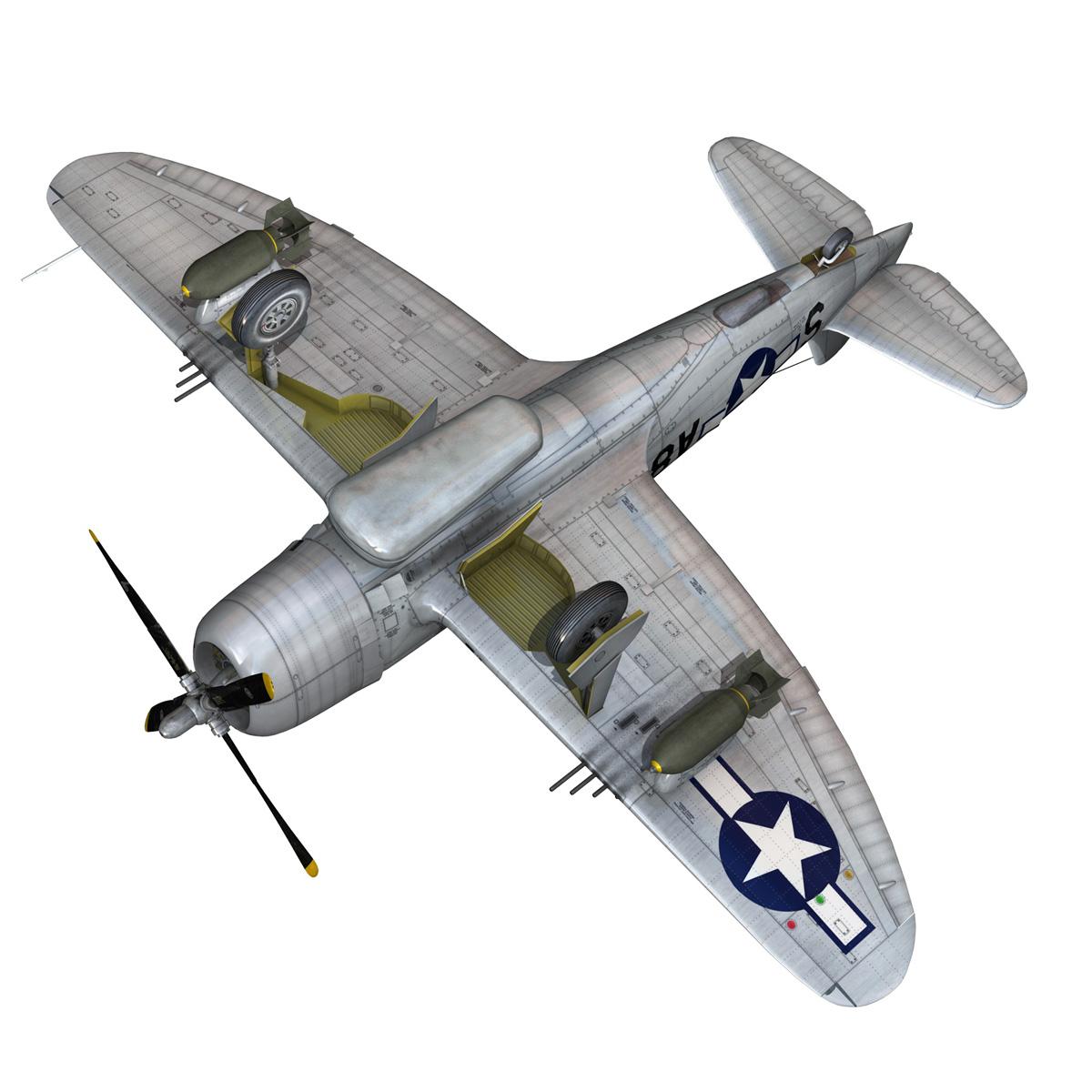 republic p-47 thunderbolt – daddy rabbit 3d model fbx c4d lwo obj 272704