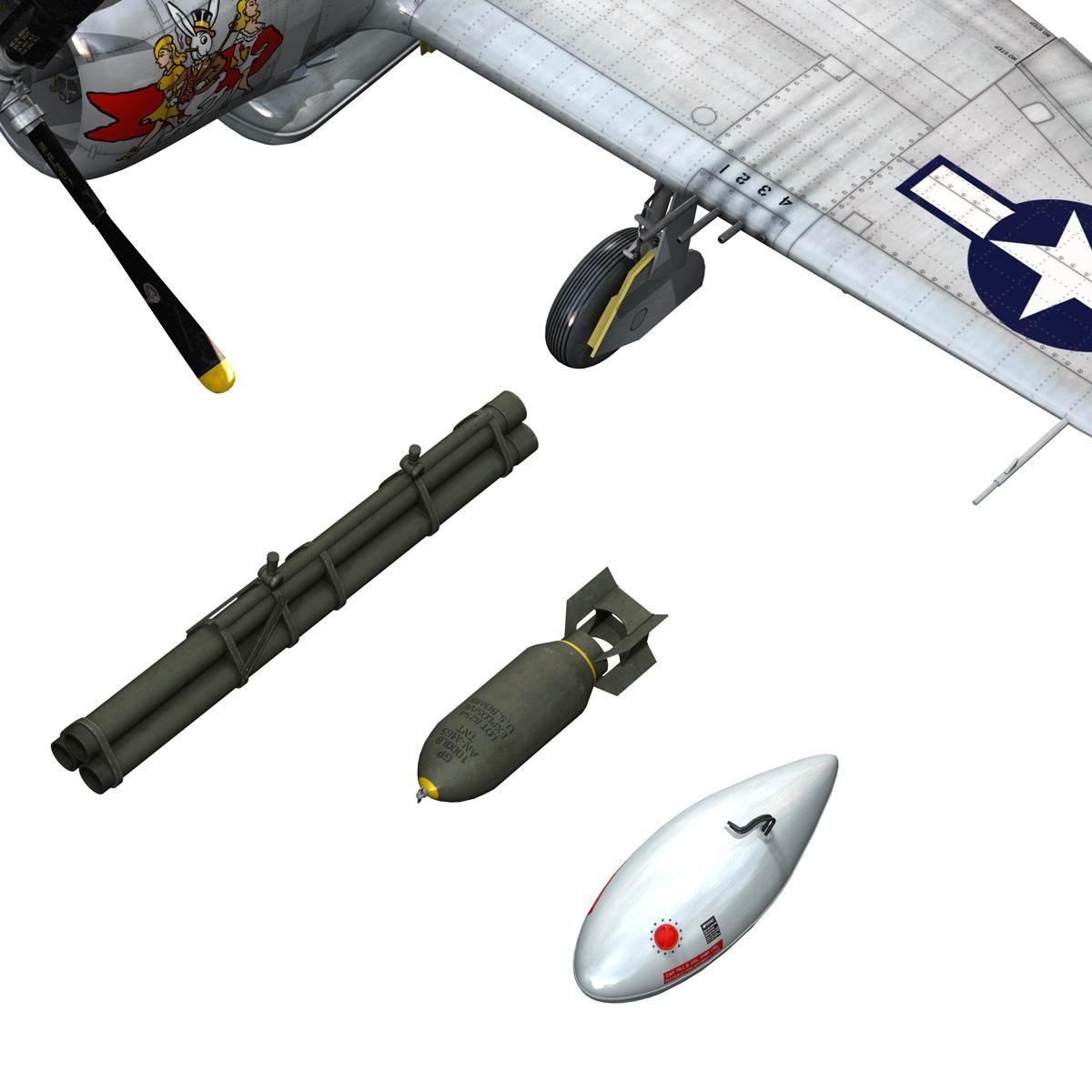 republic p-47 thunderbolt – daddy rabbit 3d model fbx c4d lwo obj 272705