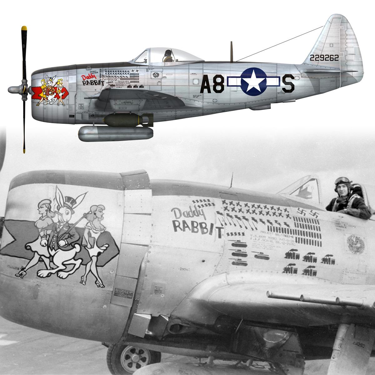republic p-47 thunderbolt – daddy rabbit 3d model fbx c4d lwo obj 272706