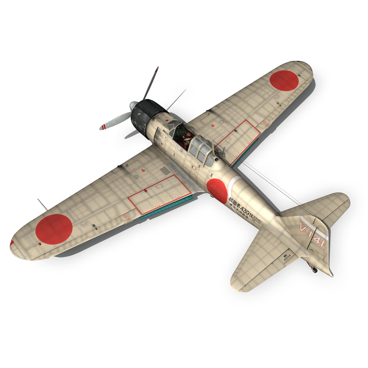 mitsubishi a6m2 zero – tainan air group 3d model fbx lwo obj 272719
