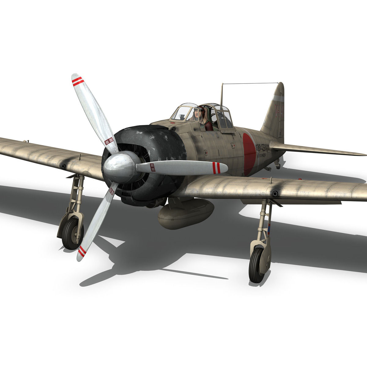 mitsubishi a6m2 zero – tainan air group 3d model fbx lwo obj 272722