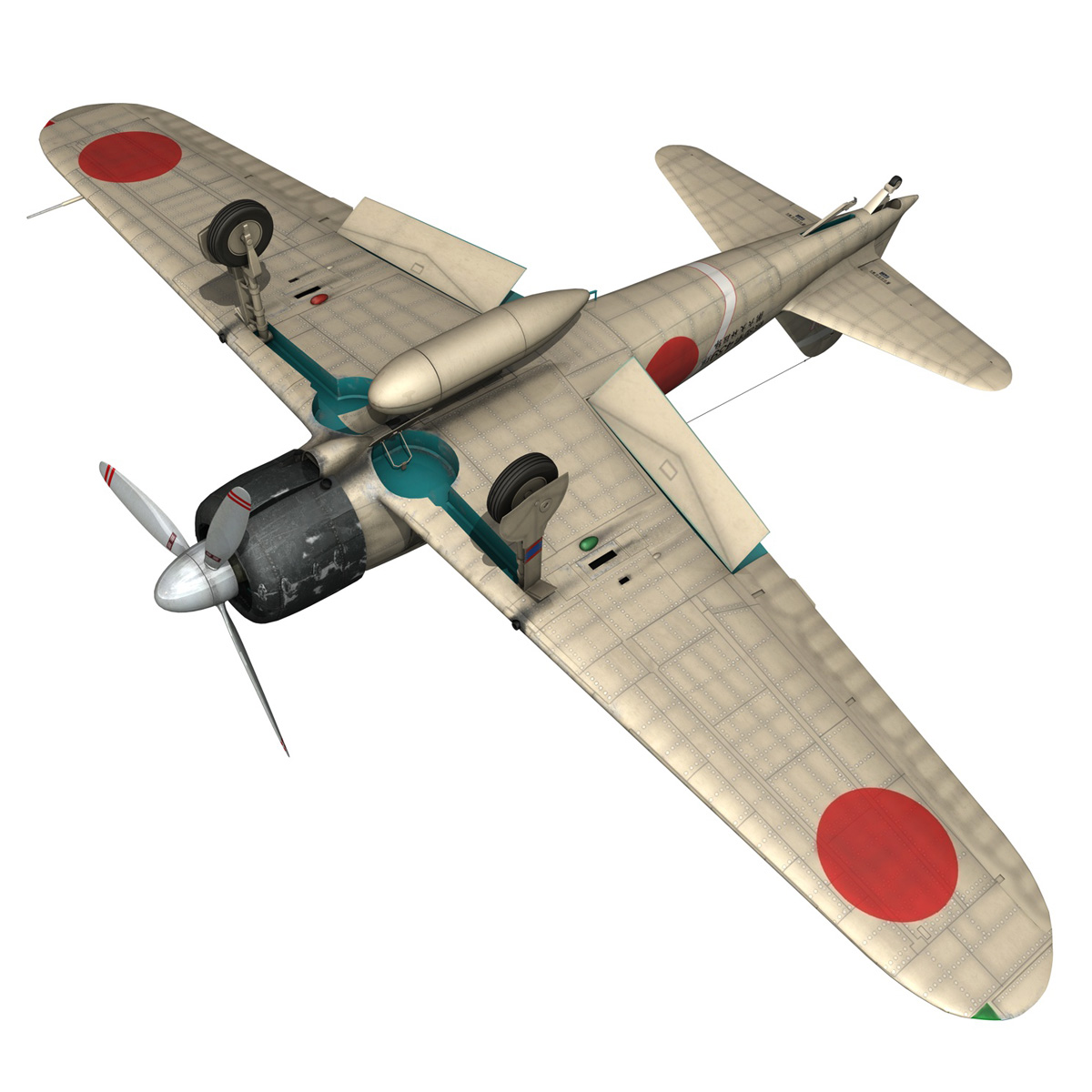mitsubishi a6m2 zero – tainan air group 3d model fbx lwo obj 272724
