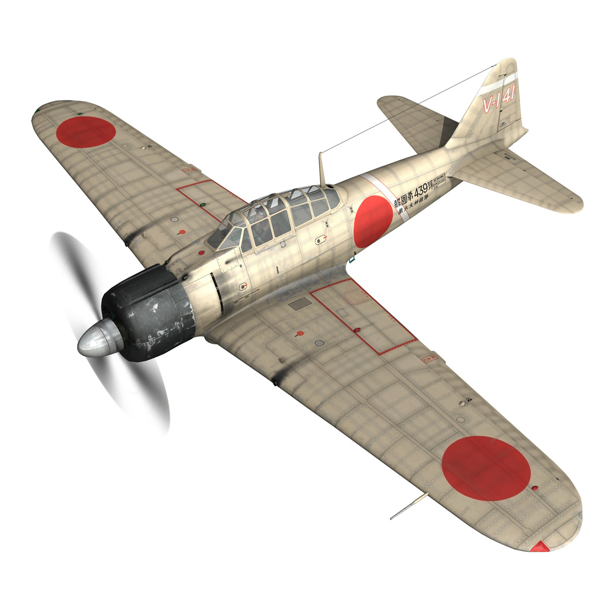 mitsubishi a6m2 zero – tainan air group 3d model fbx lwo obj 272726