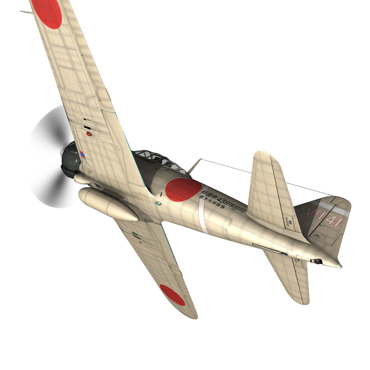 mitsubishi a6m2 zero – tainan air group 3d model fbx lwo obj 272728