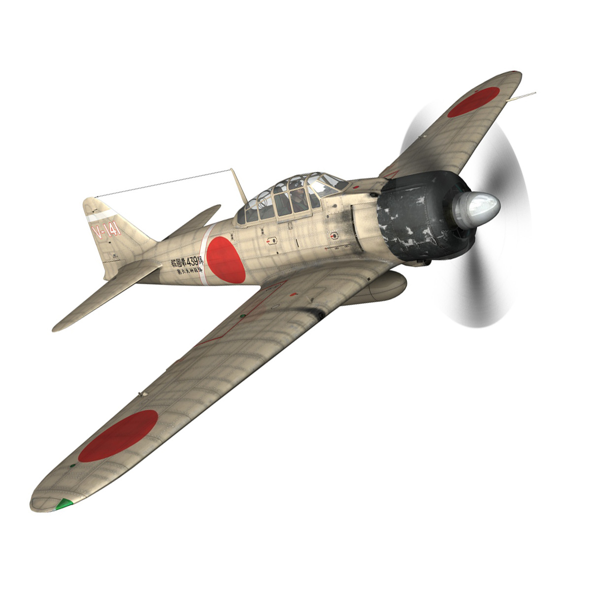 mitsubishi a6m2 zero – tainan air group 3d model fbx lwo obj 272731