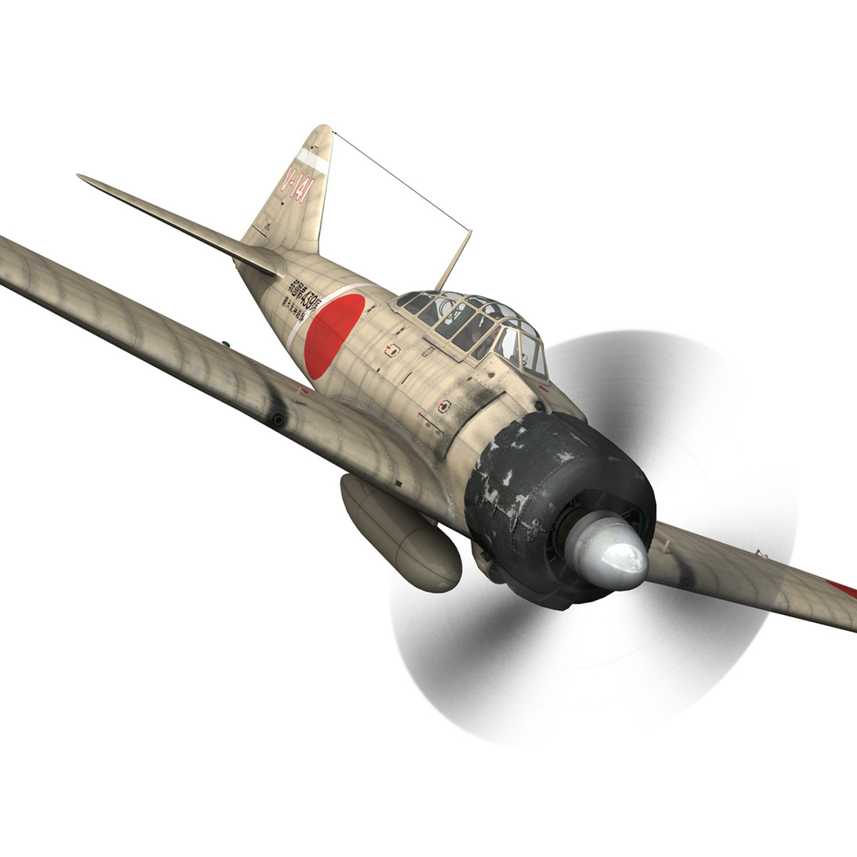 mitsubishi a6m2 zero – tainan air group 3d model fbx lwo obj 272732