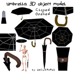 Umbrella 3D object model 3d model 0