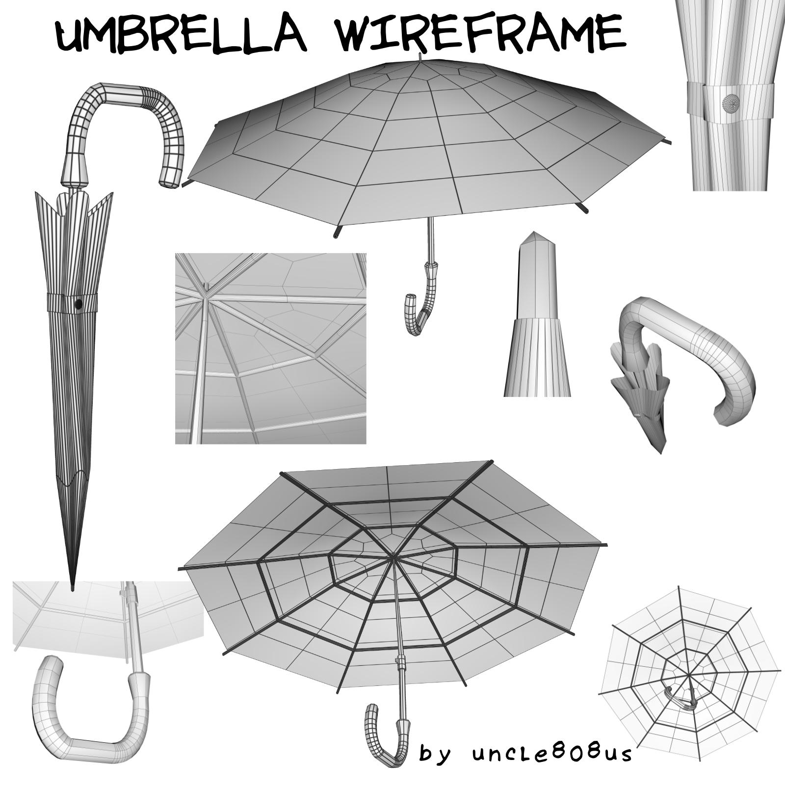 Umbrella 3D object model 3d model  obj 272748