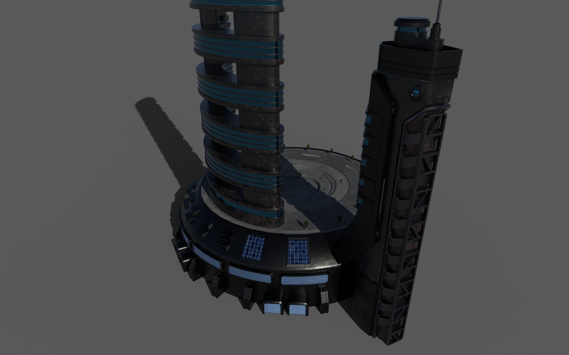 sci-fi hotel 3d model 3ds max fbx dae obj 272852