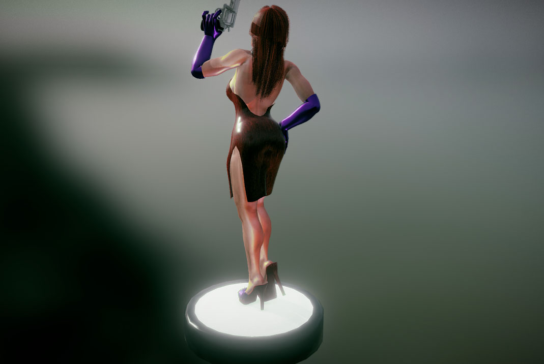 Sexy Lady Comes with Rig For LightWave 3d 3d model 0