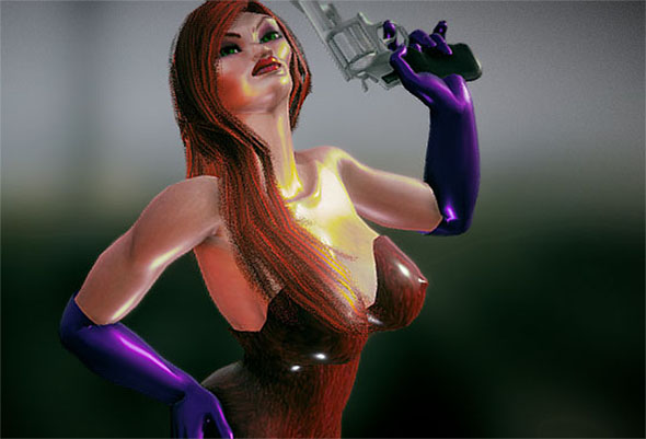 sexy lady comes with rig for lightwave 3d model lwo other 272909