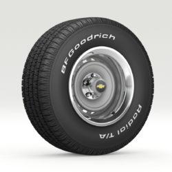 Vintage Chevrolet wheel and tire 8 3d model 3ds max fbx obj