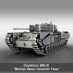 Churchill MK IV 3d model high poly virtual reality 3ds fbx c4d lwo lws lw obj