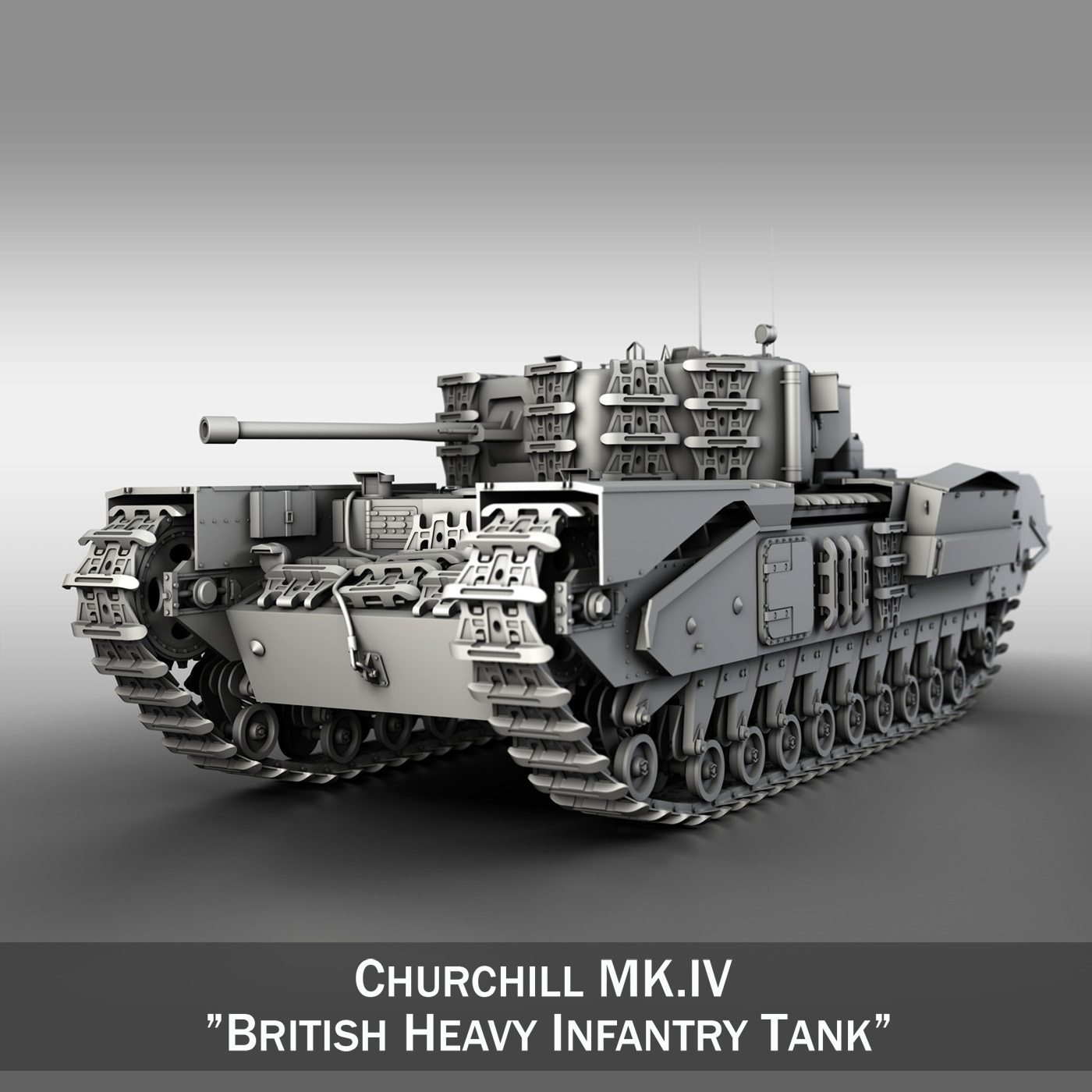 churchill mk iv 3d model 3ds fbx c4d lwo obj 272940
