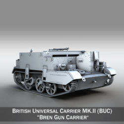 Universal Carrier MK II - Bren Gun Carrier 3d model 0
