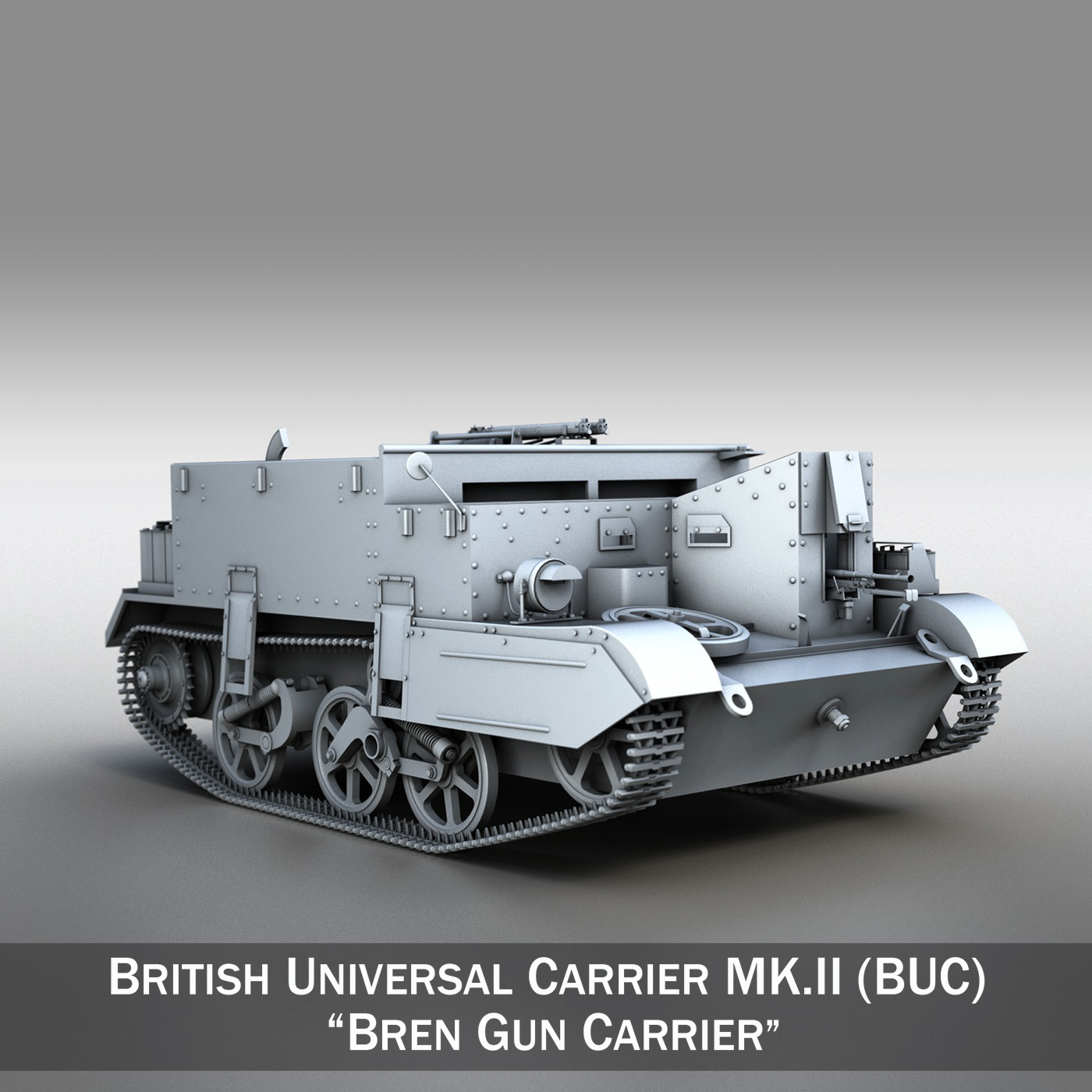 universal carrier mk ii – bren gun carrier 3d model 3ds fbx c4d lwo obj 272958