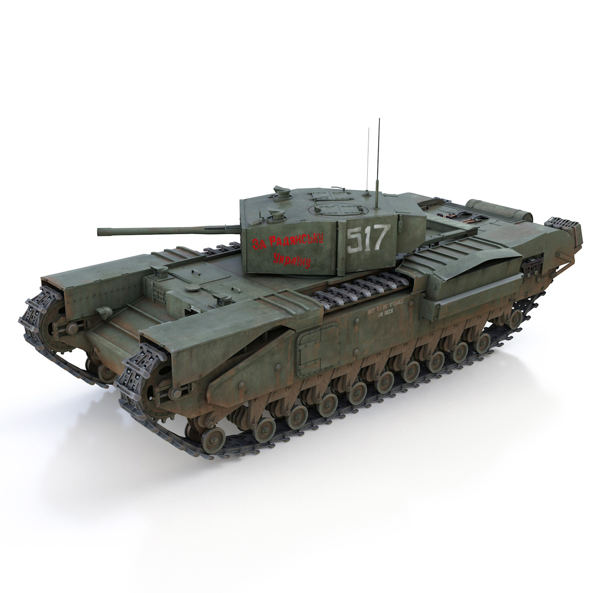 churchill mk iii - 517 - soviet army 3d загвар 3ds fbx c4d lwo obj 272976