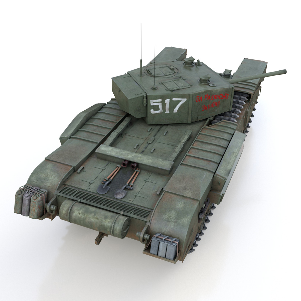 churchill mk iii - 517 - soviet army 3d загвар 3ds fbx c4d lwo obj 272978