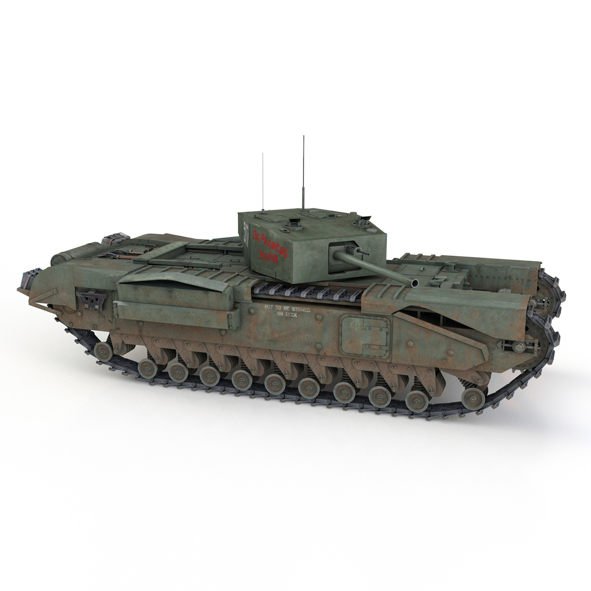 churchill mk iii - 517 - soviet army 3d загвар 3ds fbx c4d lwo obj 272979
