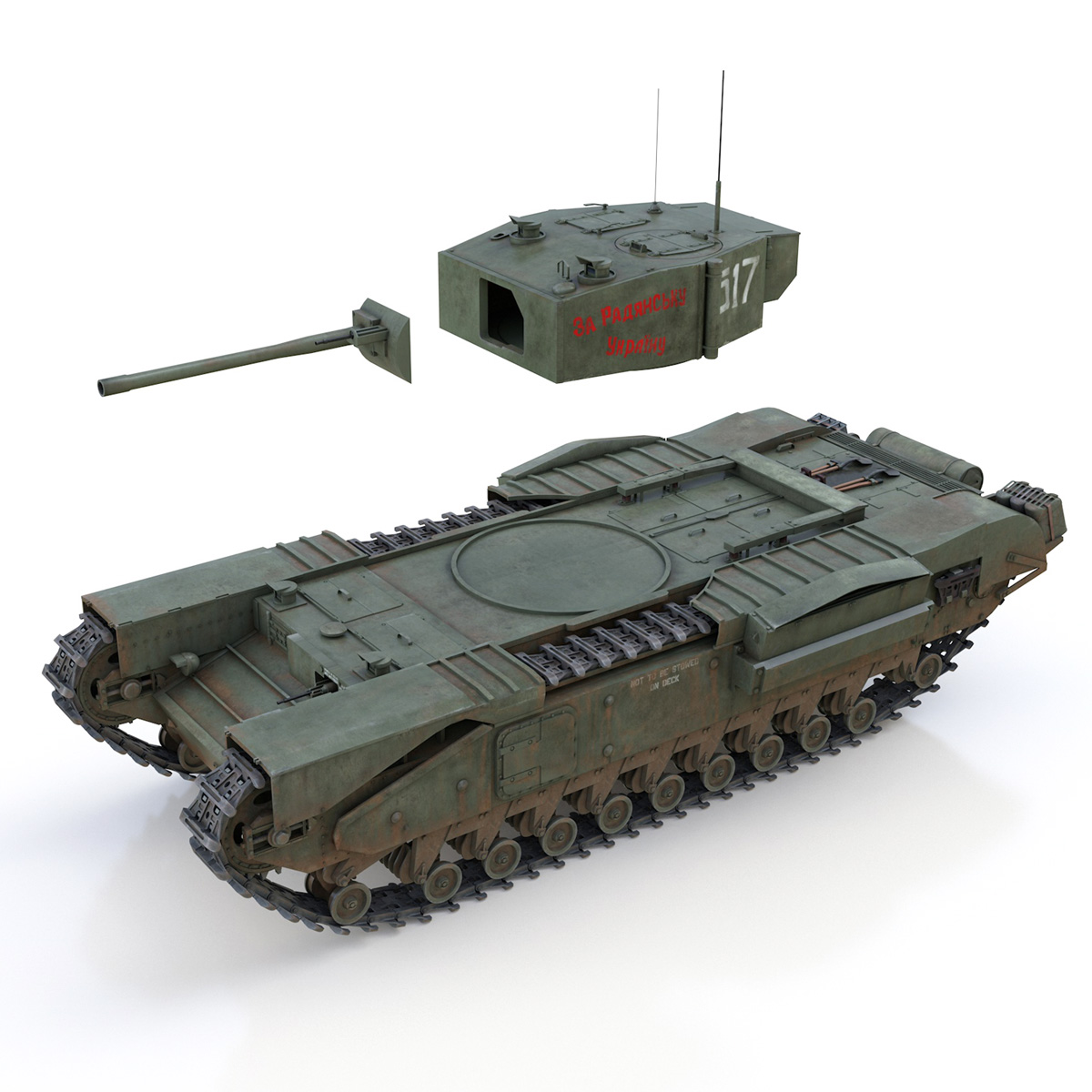 churchill mk iii - 517 - soviet army 3d загвар 3ds fbx c4d lwo obj 272982