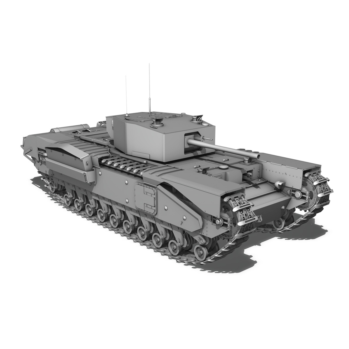 churchill mk iii - 517 - soviet army 3d загвар 3ds fbx c4d lwo obj 272984