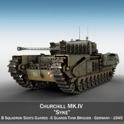 Churchill MK IV - Syke 3d model 0